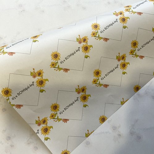 Branded Newsprint wrapping