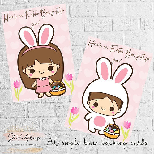 A6 Single Bow Easter Backing Cards