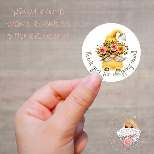 Spring Gnome Thank you sticker