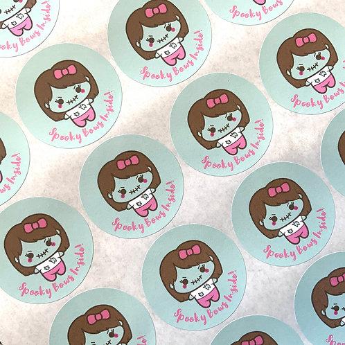 Kawaii Halloween Spooky Bows Stickers
