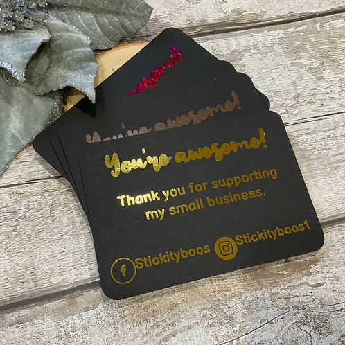 A6 Foiled Thank your cards