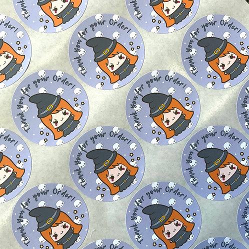 Kawaii Halloween Thank you Stickers