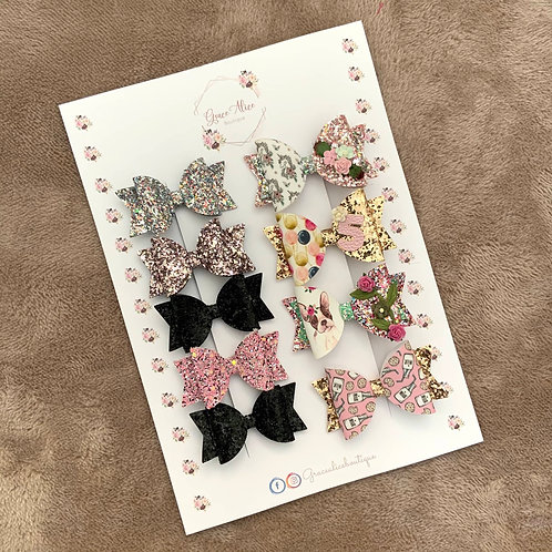 A4 portrait Bow Backing Cards
