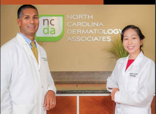 North Carolina Dermatology Associates featured in The Triangle Physician Magazine (October 2016 Issu