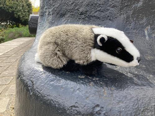 Premium soft toy adult badger