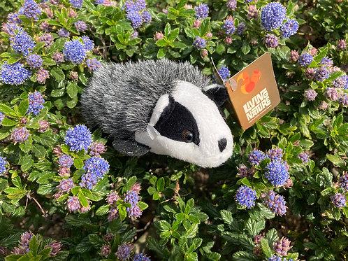 Soft toy badger cub