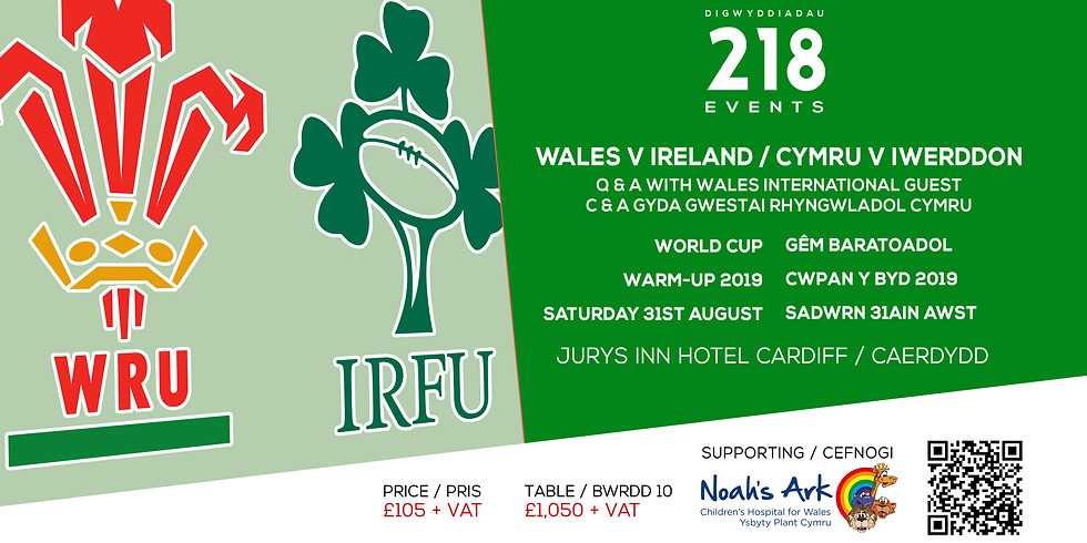 Wales v Ireland, World Cup Warm-Up