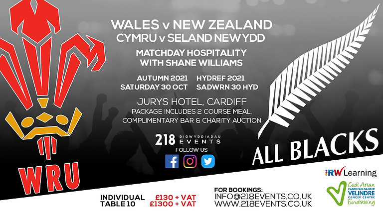 Wales v New Zealand - Autumn Rugby Series 2021