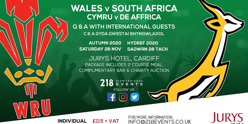 Wales v South Africa - Autumn Series