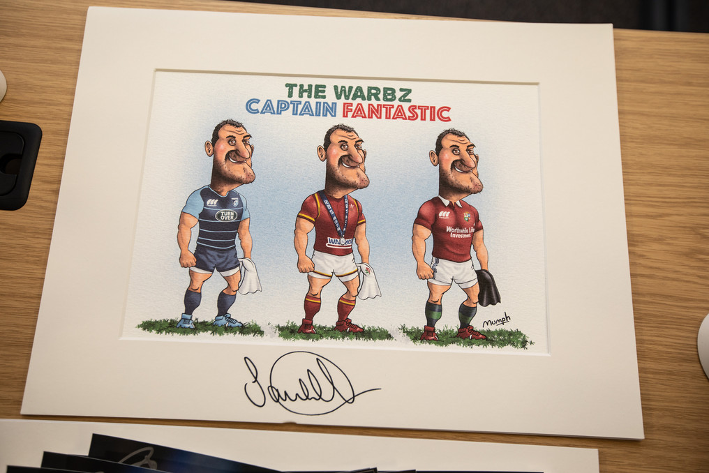 signed Sam Warburton Mumph cartoon 218 E