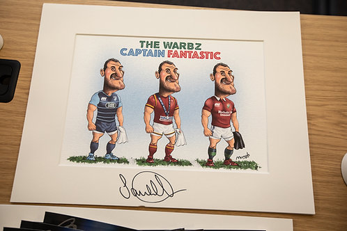 Signed Sam Warburton Mumph Cartoon