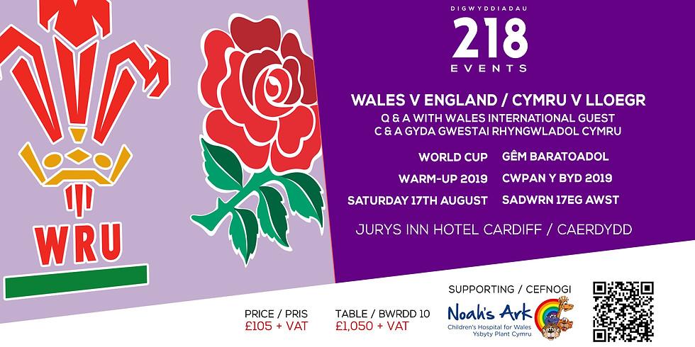 Wales v England / Cymru v Lleogr - World Cup Warm-Up