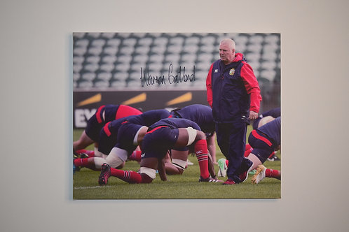 Warren Gatland Signed Canvas