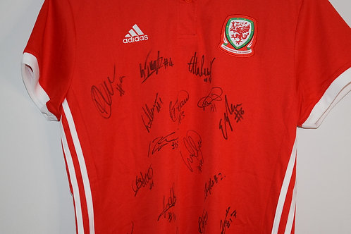 Signed Wales Women Football Shirt 2019
