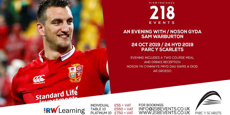Evening with / Noson yng nghwmni Sam Warburton