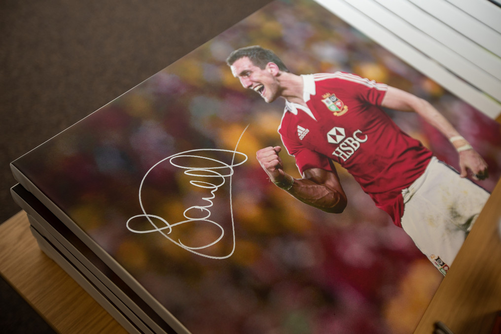 Sam Warburton signed canvas 218 Events P
