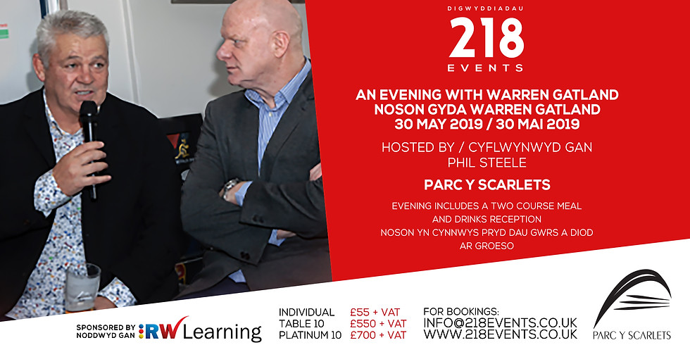 Evening with / Noson Gyda Warren Gatland & Phil Steele