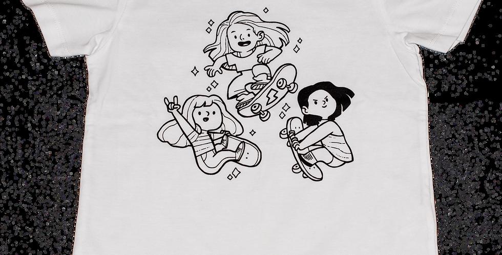 Kit t-shirt passion skate + 4 felt tip pens Omy
