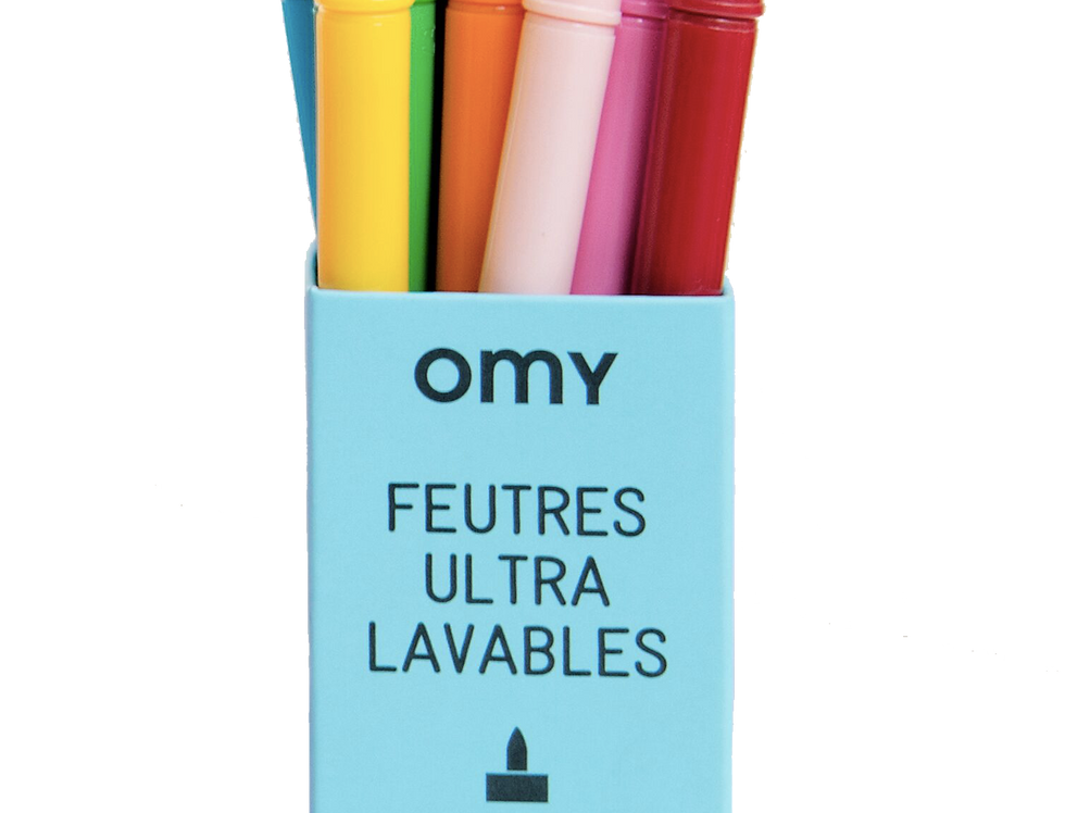Pack 16 feutres ultra-lavables Omy