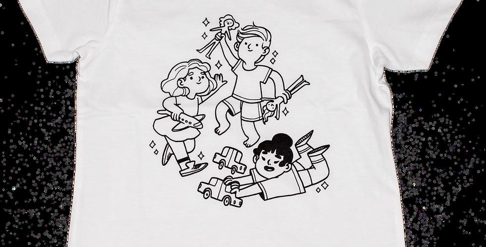Kit t-shirt s'amuser + 4 feutres Omy