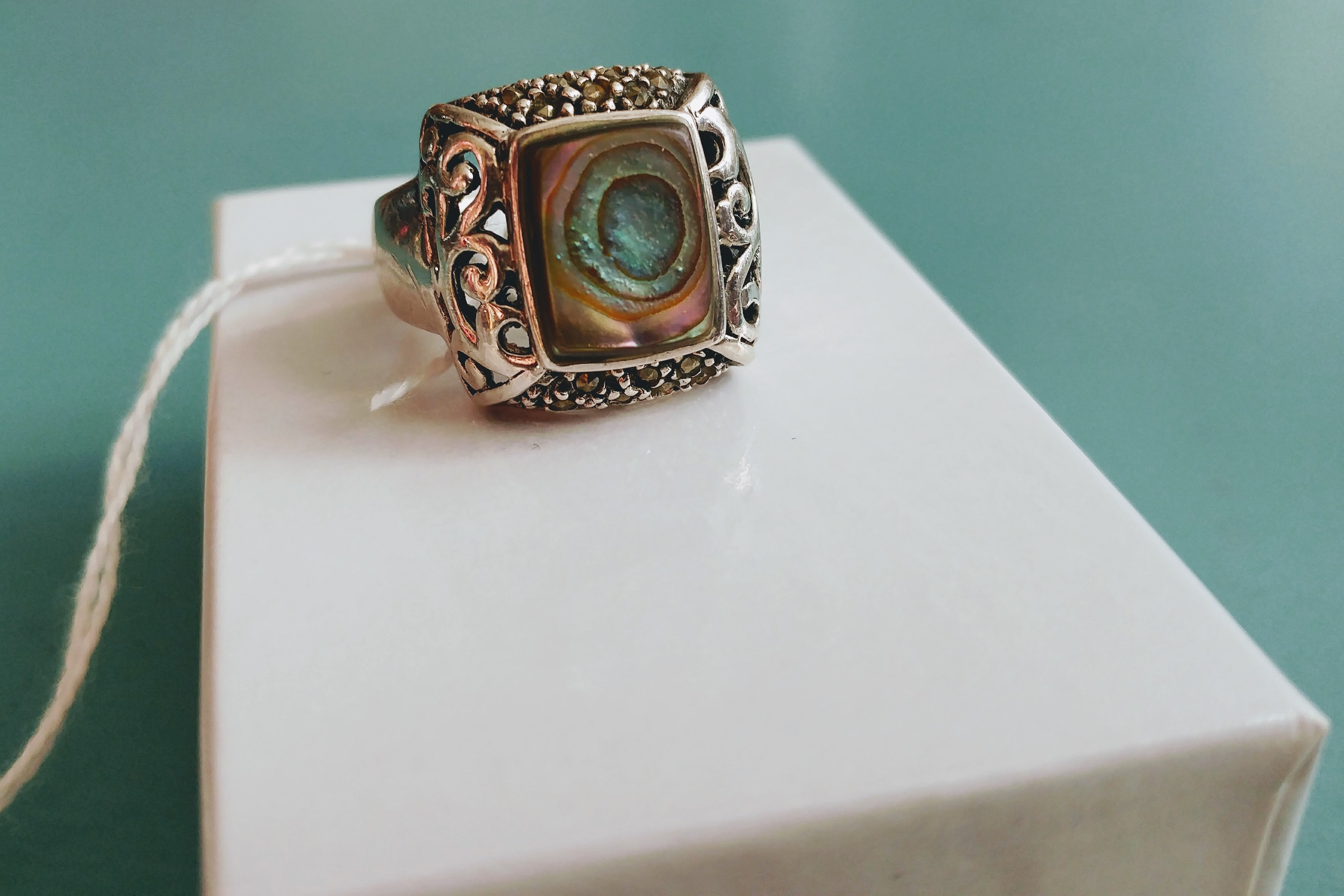 rings gems engagement mount with white diamond abalone ring semi jewelry best productlist oval in gold