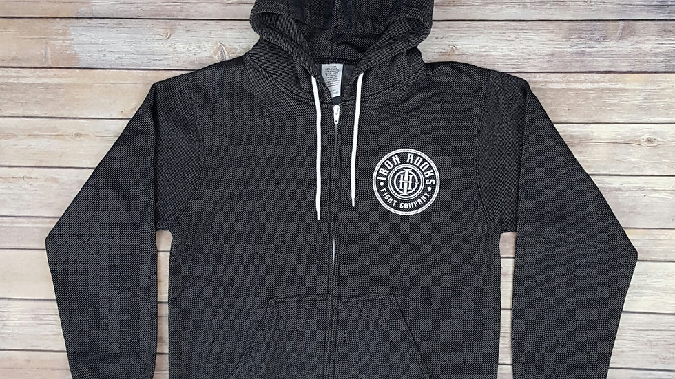 Black Salt & Pepper Zip Up