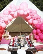 Boho bell tent picnic