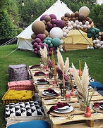 Three Little Teepees near me bell tent picnic boho party wedding baby shower kids birthday party ideas