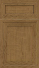 Asher 5 piece Cherry Flat Panel Cabinet Door Tuscan