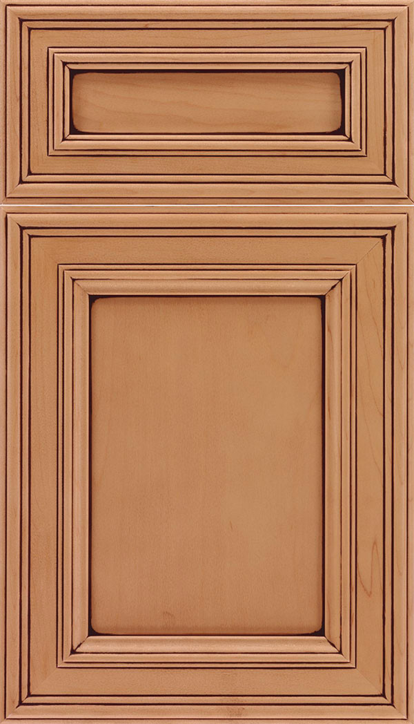 Chatham 5 pieceRecessed Panel Cabinet Ginger Mocha