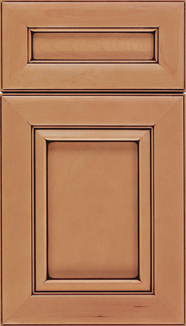 Paloma Flat Panel Cabinet Door Ginger Mocha