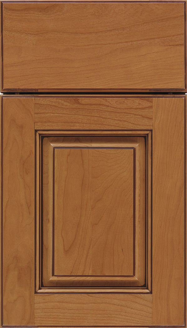 Whittington Raised Panel Cabinet Door Ginger Mocha