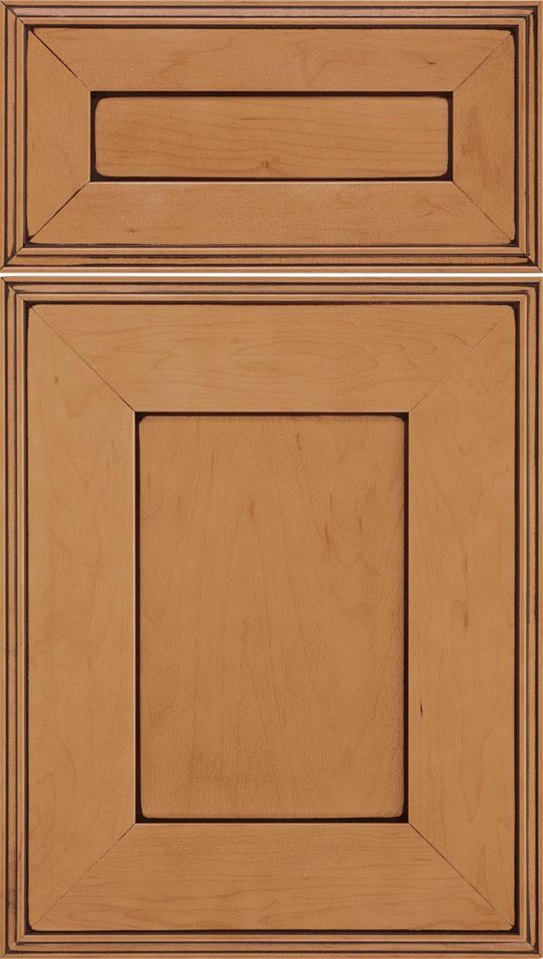 Elan 5 piece Flat Panel Cabinet Door Ginger Mocha