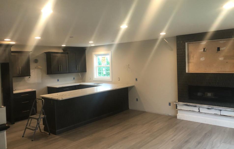 Kitchen & Fireplace