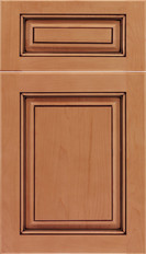 Marquis 5 piece Raised Panel Cabinet Doors Ginger Mocha