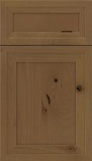 Asher 5 piece Alder Flat Panel Cabinet Door Tuscan
