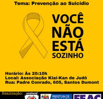 Associação Kiai-Kan de Judô promove palestra contra o suicidio!