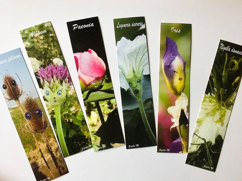 6 marque-pages Le Jardin Enchanté