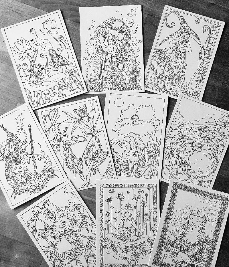 10 cartes à colorier