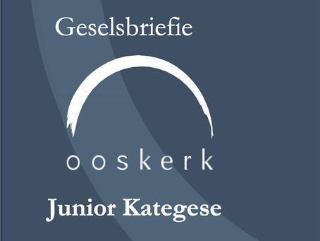 Junior kategese geselsbriefie: 12 November