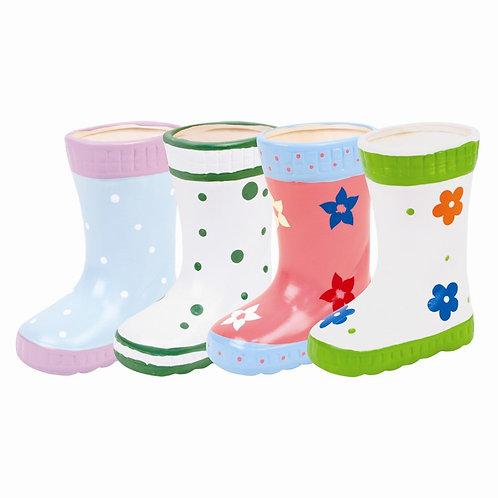 Ceramic boot planters