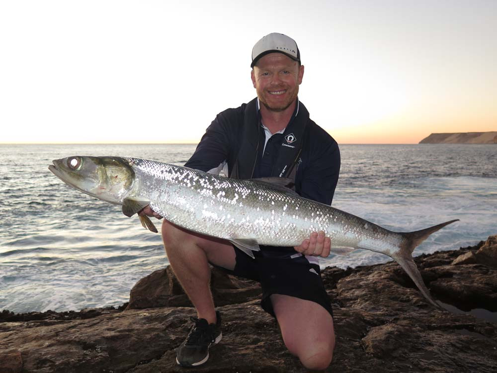 Giant Herring rock fishing Quobba Western Australia