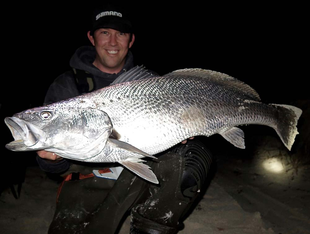 Mulloway aka Jewfish Beach Fishing Perth WA by Robbie Riches