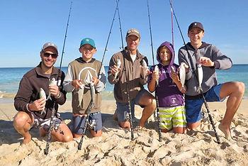 Beach Fishing Lesoon fun