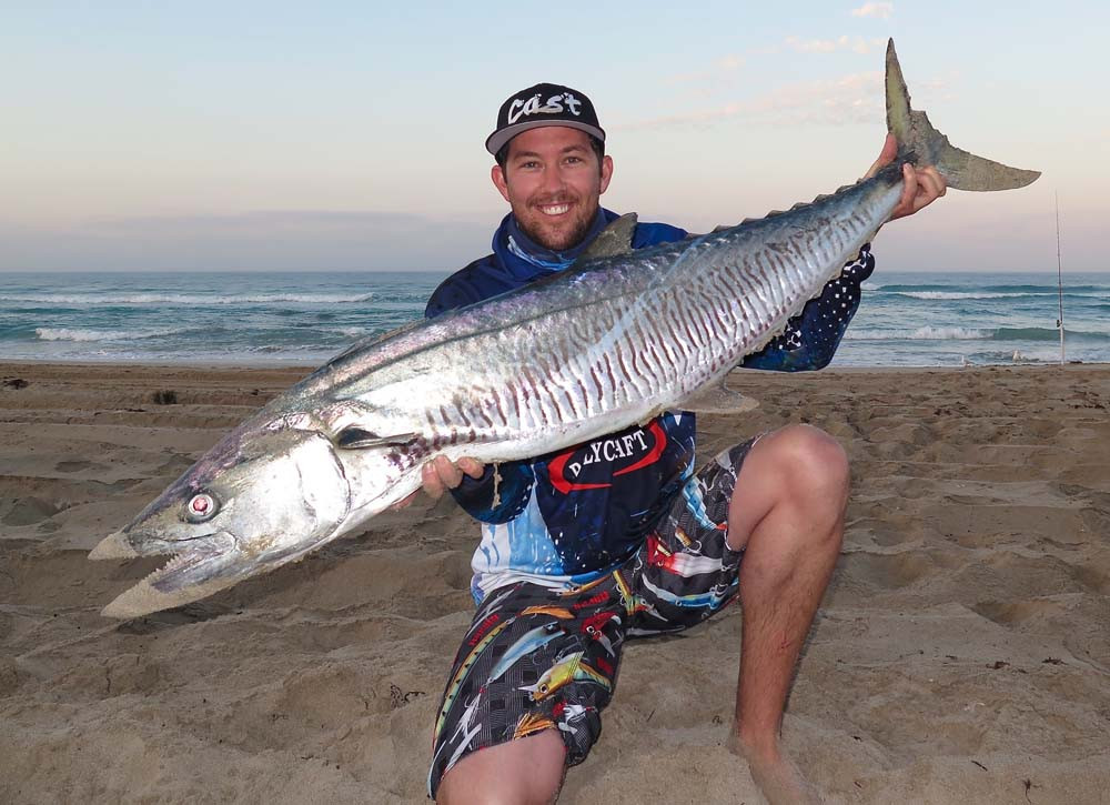 Spanish Mackerel caught off beach in WA mid-west by Robbie Riches