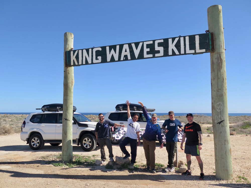 King Waves Kill sign at Quobba Station