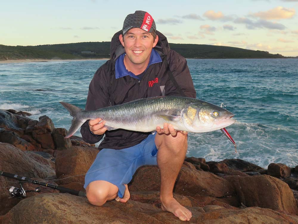 Australian Salmon Fishing Yallingup WA by Robbie Riches