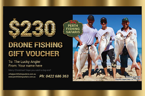 Drone Fishing Safari Gift Voucher