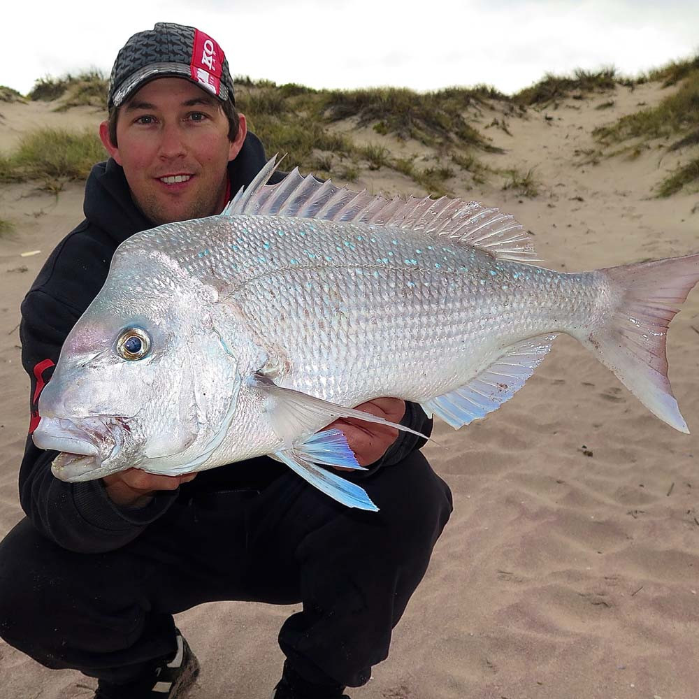 Pink Snapper caught while beach Fishing Kalbarri WA by Robbie Riches