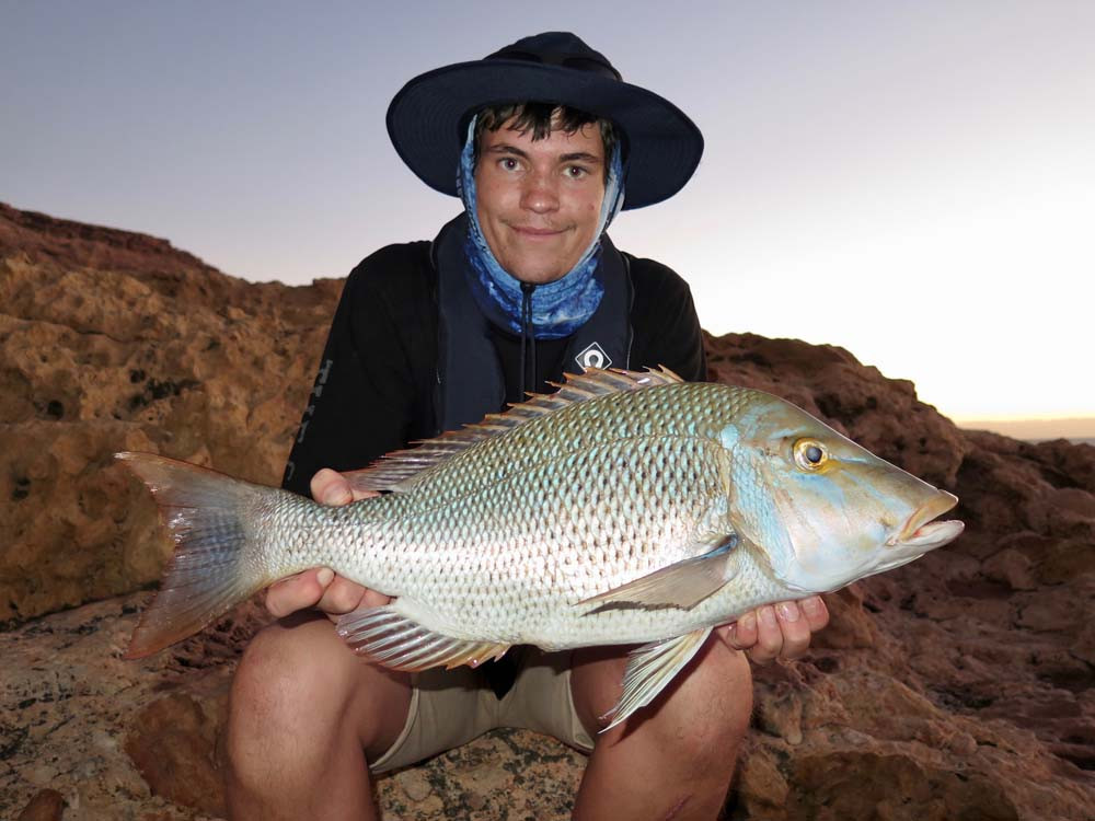 Spangled Emperor fishing at Quobba Station